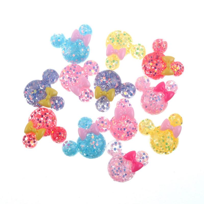 50Pcs Mixed Clear Kawaii Resin Cabochon Flatback Decoration Crafts Embellishments For Scrapbooking Diy Accessories
