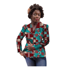 African Print Women Suit Jacket Africa Festive Ladies Long Sleeve Blazers Jacket For Party Cutomize Africa  Clothing