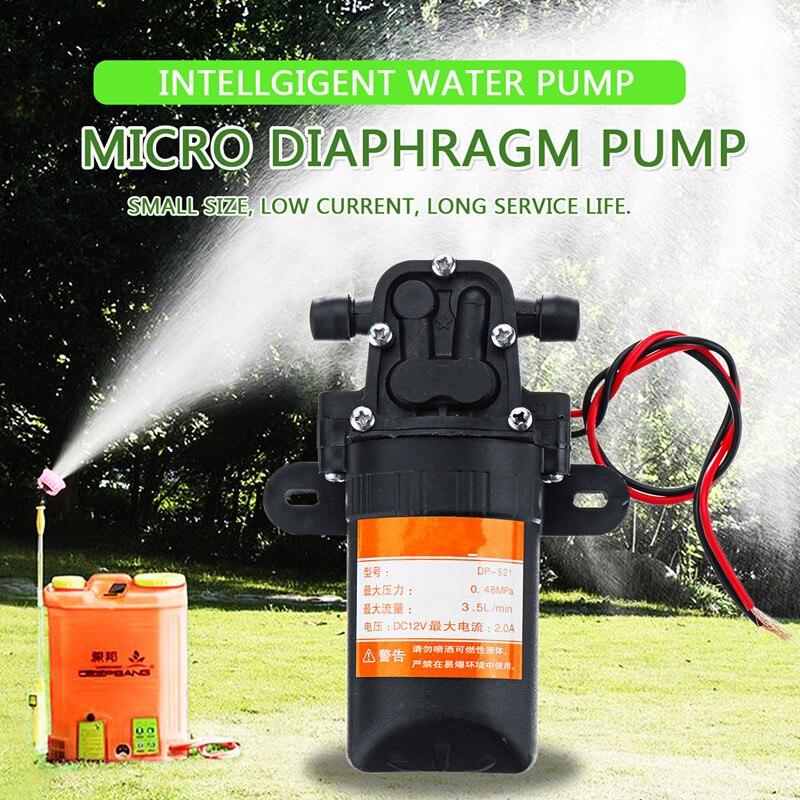 DC 12V Micro Diaphragm Pump High Pressure Misting Pump Booster Diaphragm Water Pump Automatic Switch 3.5L/min