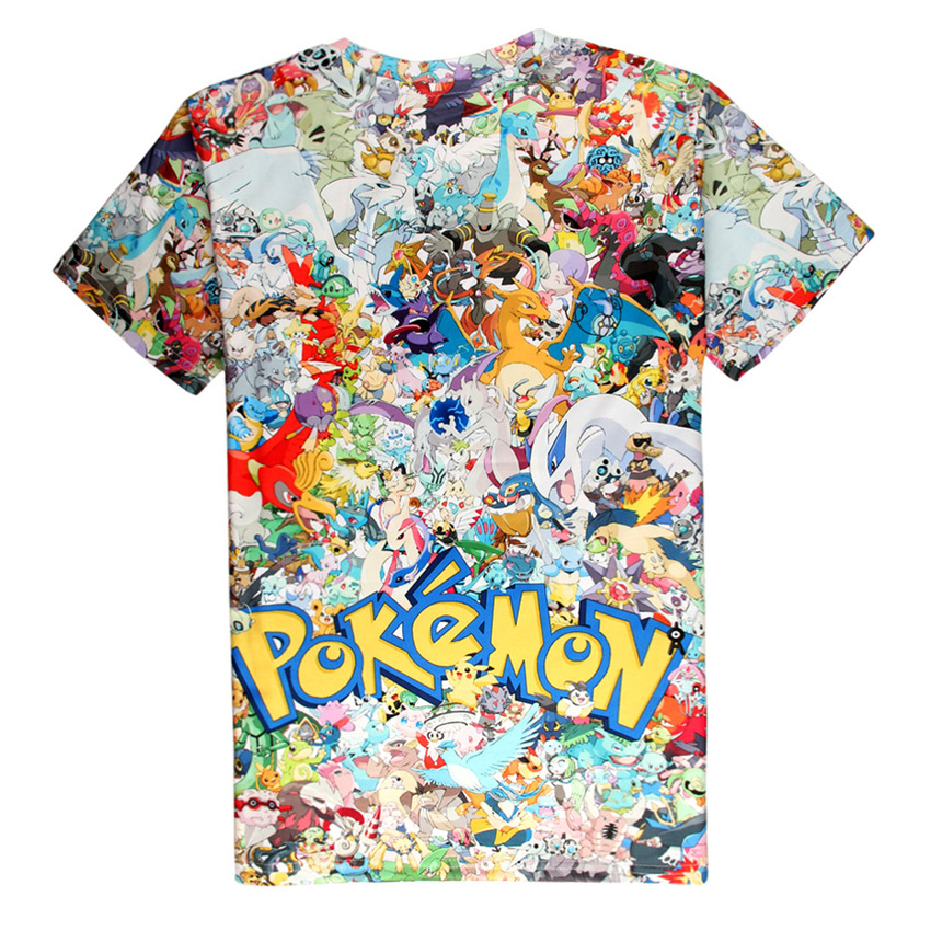 Pokemon Charmander Bulbasaur Squirtle Pokeball T-Shirts Womens Mens Graphic Tee