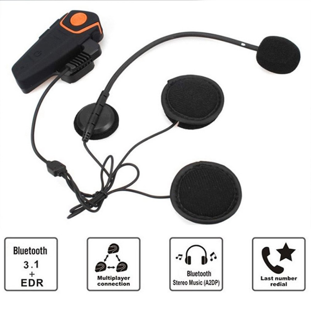 1 or 2 pc BT-S2 1000m Waterproof Motorcycle Helmet Bluetooth Intercom Headset Wireless Motorbike Interphone Riders Communicator