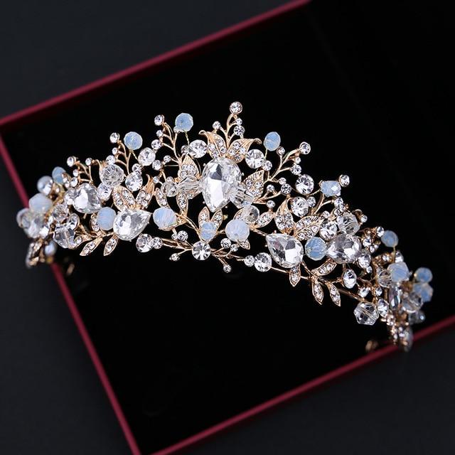 Aliexpress Com Buy Beads Bridal Crown Tiara Alloy Wedding Princess Hairwear  Accessory New.html d2bf486d97f8