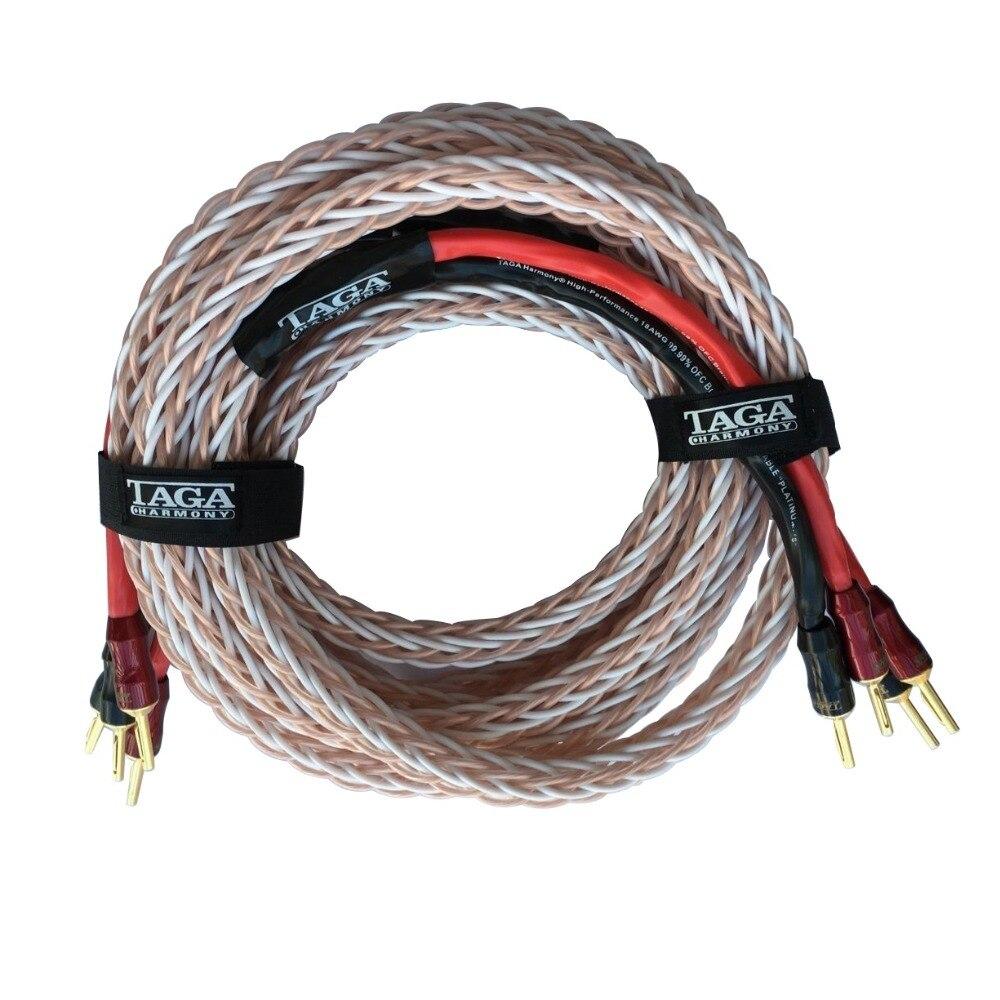 TAGA Harmony Platinum-18 Hi-end 18 AWG OFC Speaker Cable with Banana Plugs 2.5m x 2