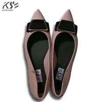 2017 New Jelly Shoes Candy Sandals Luxury Brand Summer Beach Flats Girls Knot Casual Lady Fashional