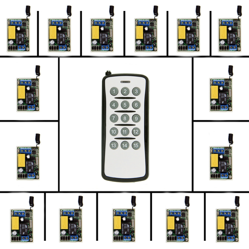 Mini AC 220V 1CH 1CH 10A Wireless Remote Control Switch Relay Receiver + Transmitter Home Decoration System ,315 / 433.92 ac 220v wireless remote control switch remote switch system 1ch relay module receiver