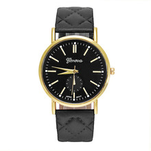 2017 Relogio Feminino erkek kol saati Fashion Unisex Casual Leather Band Quartz Analog Wrist Watch Watches#June2
