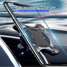 Car Wireless Charger Base For iPhone XS Max X XR 8 Plus Car Mount QI Fast Charging For Samsung S9 S8 S7 Car Phone Holder in Car