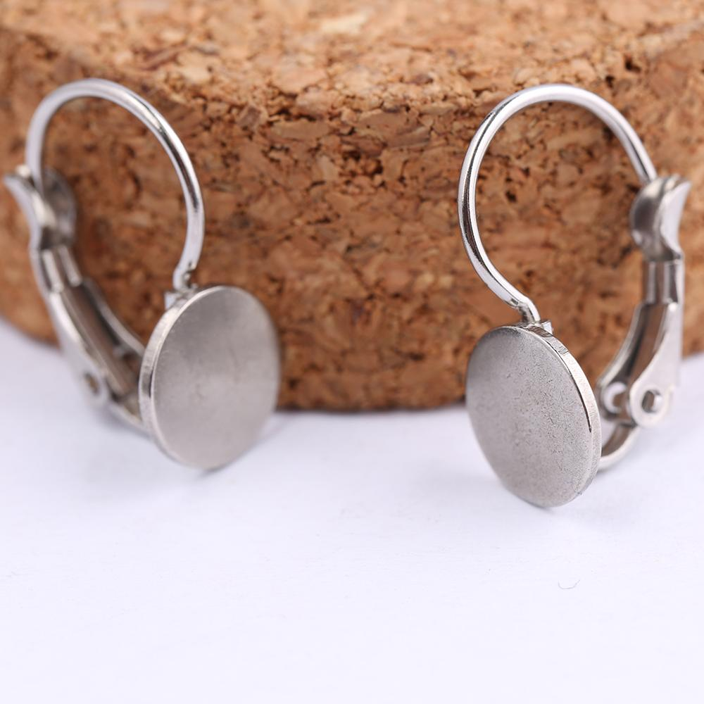 Onwear 20pcs Stainless Steel French Leverback Earring Base Blanks Diy Accessories For Making Earrings