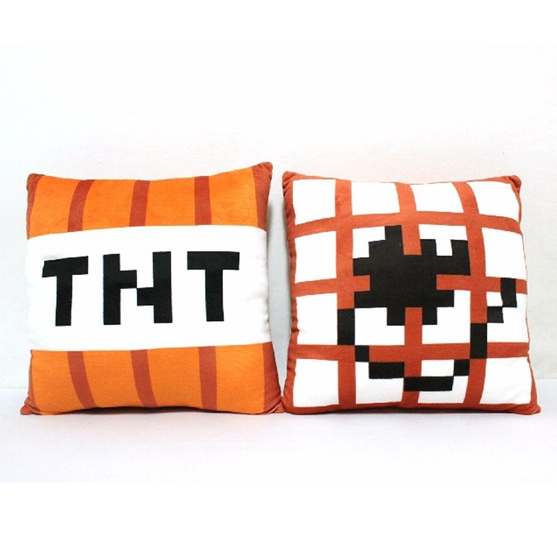 Pcs Cm Minecraft Pillow Plush TNT Pillow Cartoon Baby Toy Pillow - Minecraft tnt spielen