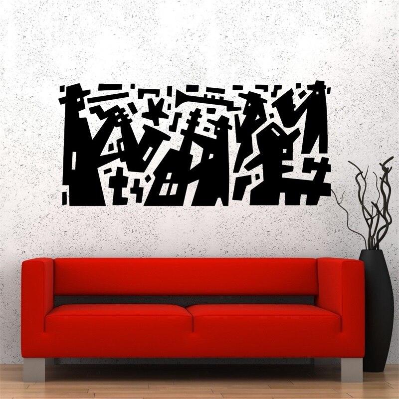 Wall Decal Music Jazz Band Modern Art Vinyl StickerChina Mainland