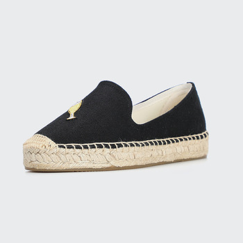 DZYM Spring Summer Indian Silk Embroidery Braided Loafers Bottle Flats Women Fisherman Shoes Straw Flax Linen Canavs Espadrilles