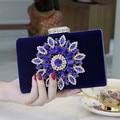 Красный Черный Королевский Синий Вечерняя Сумочка Невесты Сумочка Банкетный Алмаз Сцепления Цепь Плеча Мини Сумка Бесплатная Доставка