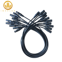IMRELAX 10pcs DMX כבל 3.25 רגליים/1 מטר אורך שלב אור חוטים עם 3 פינים אות XLR זכר לנקבה חיבור