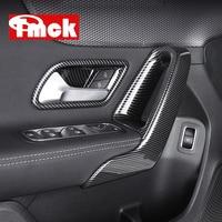 For Mercedes Benz A Class W177 V177 A180 A200 A220 A250 Car Door Inner Armrest+Handle Bowl Cover Trim Frame Sticker Accessories