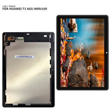For 9.6″Huawei MediaPad T3 10 AGS-L09 AGS-W09 AGS-L03 T3 LCD Display Digitizer Screen Touch Panel Sensor Assembly + Tools