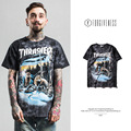 FORGIVENESS 2017 Tide brand men's tie-dye snow wolves printed men  short sleeve T shirt thrasher