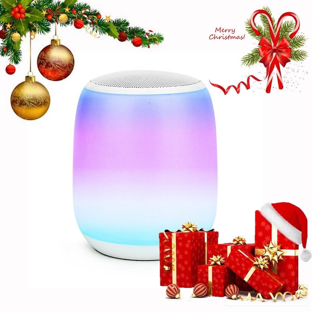 Q5 Portable extérieur Bluetooth stéréo haut-parleur lampe LED lumière de nuit intelligente lampe de chevet RGB blanc tactile RGB LED décoratives