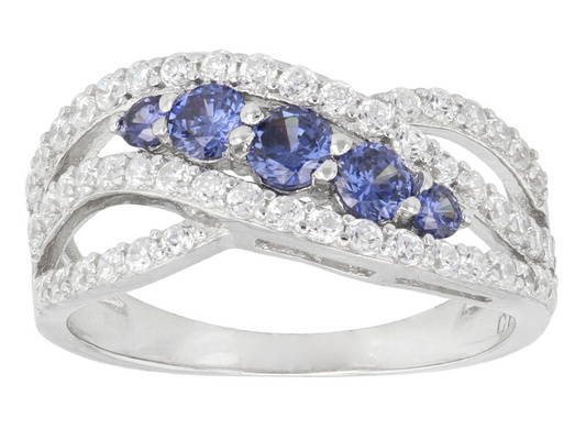 Classic Curved Design Fashion 925 Sterling Silver Tanzanite Engagement Rings Best Selling Rings