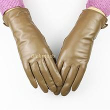 2017 female leather gloves a variety of colors sheepskin gloves straight style wool lining spring and autumn warm gloves