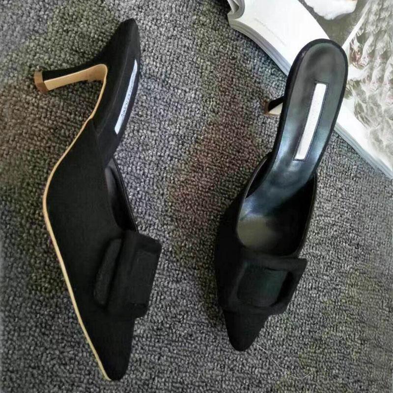 Zapatos As Elegantes Verano as Tacón Show Punta Deslizadores Moda Casuales Mujer Estrecha Show De Sandalias Sexis Med Zapatillas 61wqA0W