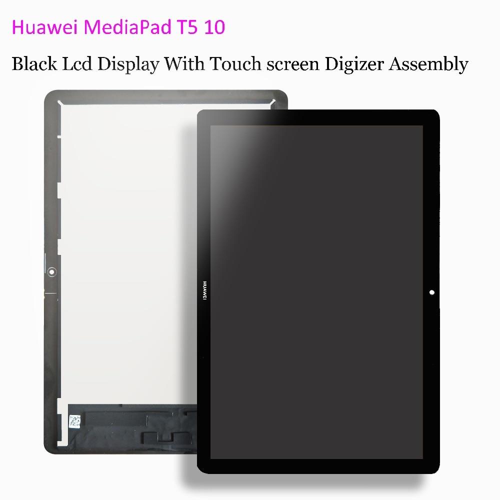 10.1 Pour Huawei MediaPad T5 10 AGS2-L09 AGS2-W09 AGS2-L03 AGS2-W19 D'affichage À CRISTAUX LIQUIDES avec L'assemblée de convertisseur analogique-numérique d'écran tactile Film de Verre