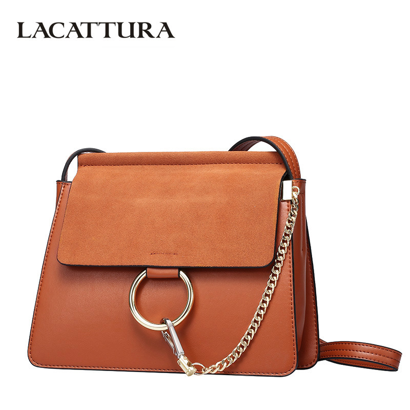 LACATTURA Luxury Handbags Women Bags Designer Leater Handbag Chain Shoulder Bag Fashion Ladies Clutch Crossbody for Women lacattura luxury handbag chain shoulder bags small clutch designer women leather crossbody bag girls messenger retro saddle bag
