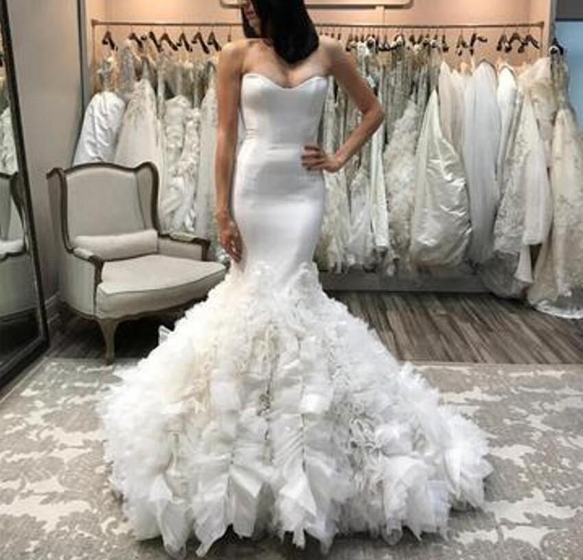 Us 16065 15 Offvintage Summer Lace Mermaid Wedding Dresses Sweetheart Plus Size Fishtail Bridal Gown Zipper Nigerian African Vestido De Novia In
