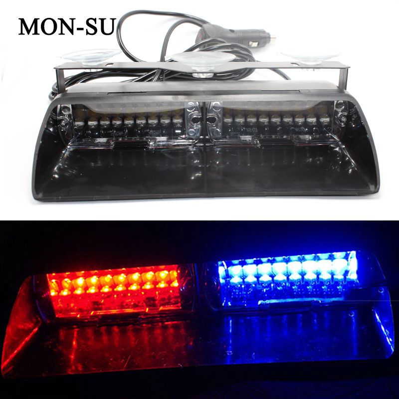 MON-SU High Power Led Car Strobe Light S2 Federal Signal Lamp Auto Warn Bulbs Police Emergency Lights 12V Car Front Lamp luces led de policía