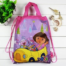 1 pieces / los Dora Kids Cartoon Drawstring Trainers for Girls, Kids Birthday Party Favor, Mochila School Kids Backpack4545