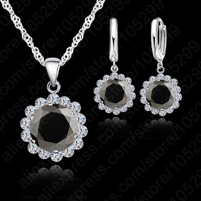 Silver Cubic Zircon Necklace /Pendant/Earrings for Fashionable Women