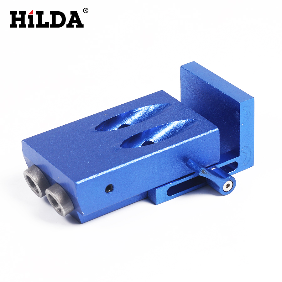 HILDA Pocket Hole Jig Kit System For Wood Working & Joinery + Step Drill Bit & Accessories Mini Kreg Style Wood Work Tool Set 1 4 hex twist 9 5mm diameter bits step drill woodworking drills bits set for kreg pocket hole drill jig guide