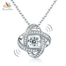Павлин звезда Танцы камень геометрический Форма кулон Цепочки и ожерелья Твердые стерлингового серебра 925 Хорошо для подружки невесты подарок CFN8050
