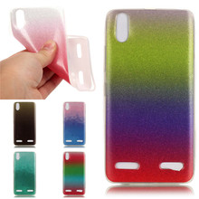 Gradient Glitter Phone Bag Cover for Lenovo A 6000 A 6010 Cute Phone Case Soft TPU Back Shell for Lenovo A6000 A6010 Back Shell