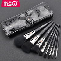 MSQ 8pcs Lot Contour Foundation Makeup Brushes Fingers Grasp Plastic Handle Brush Powder Eye Shadow Eyebrow