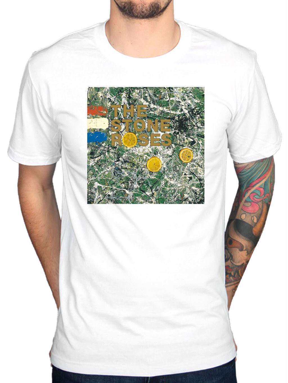 Design t shirt gildan - Gildan The Stone Roses Original Album Cover T Shirt Made Of Stone Love Spreads Design T Shirt Cool Summer Tops