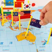 3D Metal Puzzle Creative Flag Insert Country Find Baby Kids Toys Gadget Preschool Educational Board Game For Children Table Map