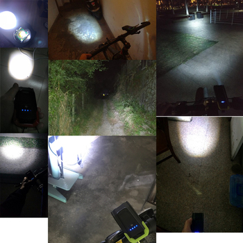 Induction Bicycle Front Light, Set USB Rechargeable, Smart Headlight With Horn 800 Lumen, LED Bike Lamp Cycle FlashLight 7