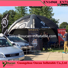 Free shipping 6 m inflatable tent spider inflatable tent red car with custom logo inflatable tent advertising tent