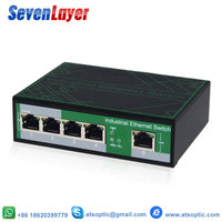 Industrial 5 Ports Ethernet Network Switch 10/100m Signal Strengthen DIN Rail Type