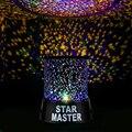 Novidade noite luz presente romântico Cosmos céu bonito estrela mestre projetor estrelado lâmpada giratória AA ou DC