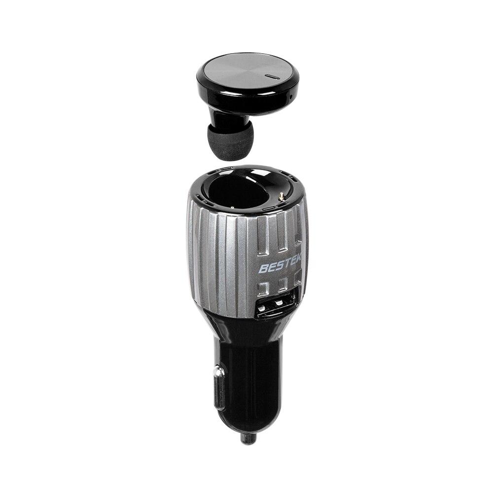 Bestek громкой связи Bluetooth-гарнитуры для авто телефон Динамик + <font><b>USB</b></font> Автомобильное Зарядное устройство + ароматерапия 3 в 1 Автомобиль Bluetooth громко&#8230;