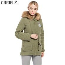 Women Parka Fashion Autumn Winter Warm Jackets Women Fur Collar Coats Long Parkas Hoodies Office Lady Cotton Plus Size CRRIFLZ