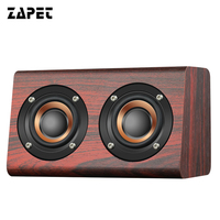 ZAPET W-speaker Portable Bluetooth Speaker Wooden Wireless Classical caixa de som with Mic for phone,computer,mp3 Support AUX EQ