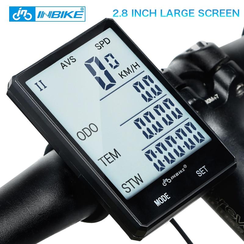 INBIKE 2.8 ''Grande Schermo Ciclocomputer Wireless Bike Computer Impermeabile Tachimetro Contachilometri Bicicletta Misurabile Cronometro