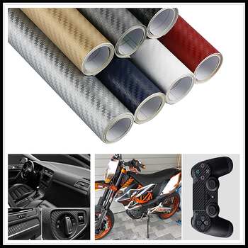 30x127cm 3D 5D CAR Carbon Fiber Wrap Film sticker and Decal FOR BMW E34 F10 F20 E92 E38 E91 E53 E70 X5 M M3 E46 E39 E38 E90 image