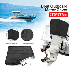 Waterproof Boat Outboard Motor Hood Cover Engine Protector For 200HP Engines Black 73*57.5*87cm