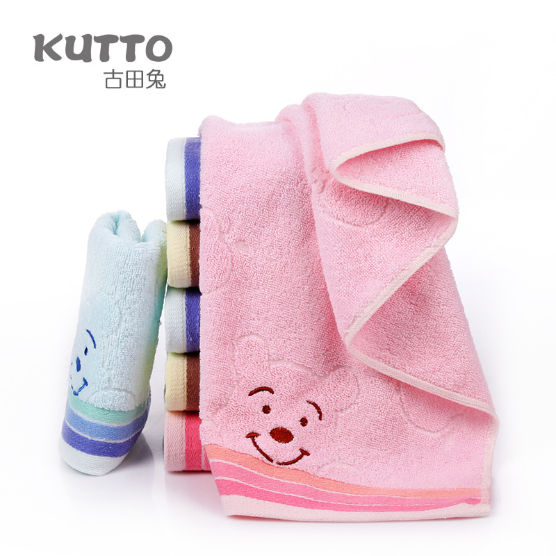 New Arrival Attractive Children Face Towels Kids Cartoon Baby Towels 75x34cm