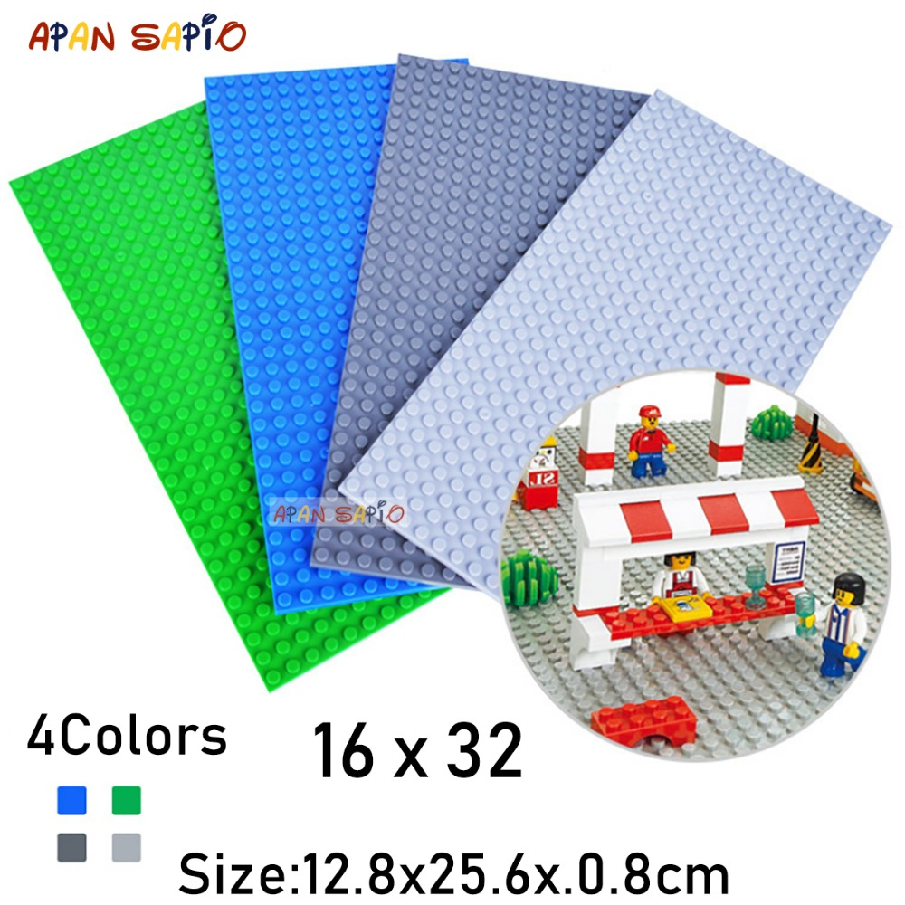 DIY Blocks Building Bricks Thin Baseplates 16X32 Educational Assemblage Construction Toys For Children Compatible With Brands
