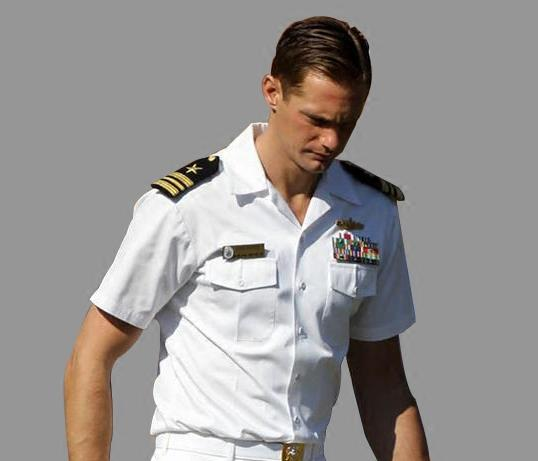 Navy Uniform White Short-sleeved Uniform White Armor Crew Shirt Captain Uniform Men TV/film Performance Costume Cosplay Summer