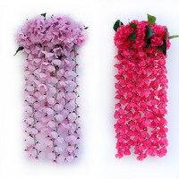 Decoración de la boda flores Bracketplant realista flor artificial hanging plant vine garland para la casa decoración de la pared